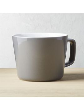 Sunrise Grey Mug by Crate&Barrel