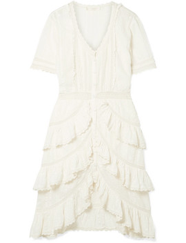 Bec Ruffled Crochet Trimmed Embroidered Cotton Voile Dress by Love Shack Fancy