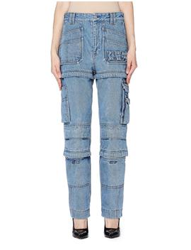 Navy Cargo Jeans by Balenciaga