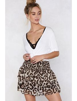 Just Take A Mini Leopard Skirt by Nasty Gal