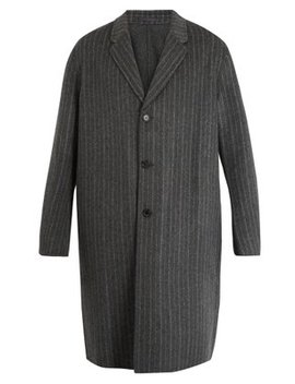 Chad Pinstriped Wool Cashmere Blend Coat by Acne Studios