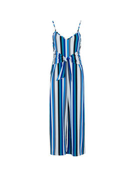 Blue Striped Playsuit by Luna Loves