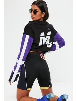 Purple Rugby Mg Crop Top by Missguided