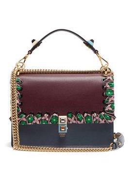 Kan I Whipstitched Ribbon Leather Shoulder Bag by Fendi