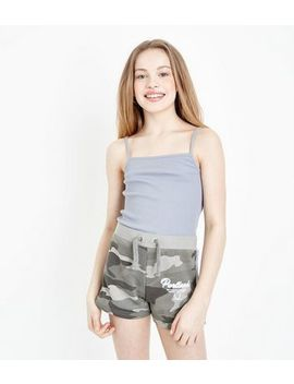 Teens Green Camo Print Shorts by New Look
