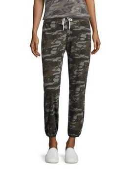 Camouflage Print Drawstring Sweatpants by Monrow