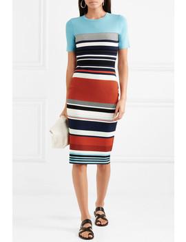 Striped Stretch Jersey Midi Dress by Diane Von Furstenberg