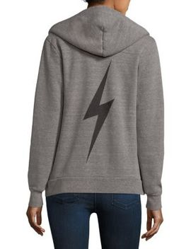 Bolt Zip Cotton Hoodie by Aviator Nation