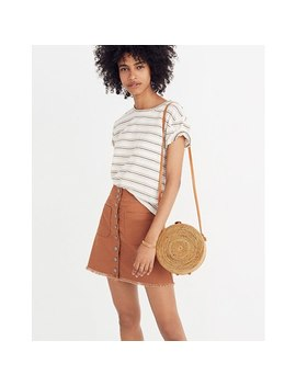 High Waist Snap Skirt by Madewell