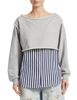 Combo Bottom Sweatshirt by T By Alexander Wang