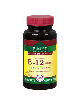 Finest Nutrition Timed Release Vitamin B12 2000mcg, Tablets120.0 Ea by Walgreens