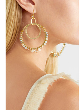 Gold Tone, Amazonite And Crystal Earrings by Chan Luu
