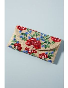 Floral Vines Embroidered Clutch by Anthropologie