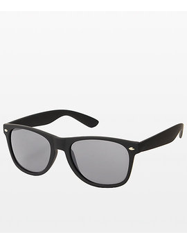 Classic Smooth Operator Matte Black Sunglasses by Zumiez