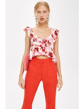 Floral Print Cropped Top by Topshop