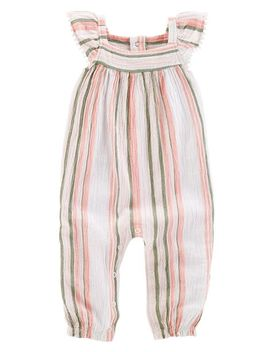 Striped Gauze Jumpsuit by Carter's