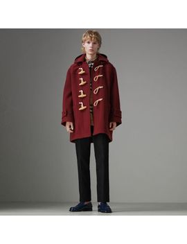 Gosha X Burberry Oversized Duffle Coat by Burberry