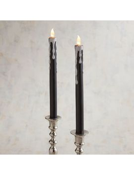 Black &Amp; Silver Led Taper Candle Set by Pier1 Imports