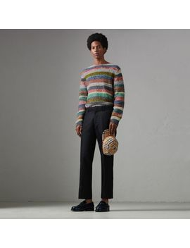 Striped Merino Wool Mouliné Sweater by Burberry