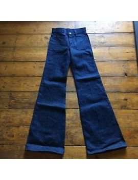 Vintage Headstock Super Flare Lee Indigo Jeans W26 Flares by Ebay Seller