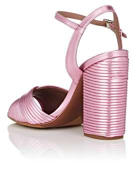 Kali Pleated Leather Sandals by Tabitha Simmons