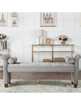 Everly Quinn Belby Upholstered Bench & Reviews by Everly Quinn