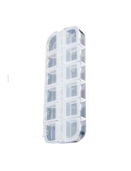 1 Pc 12 Grid Powder Paillette Rhinestone Nail Storage Box Case Plastic Container Nail Art Accessories by Vitorhytech