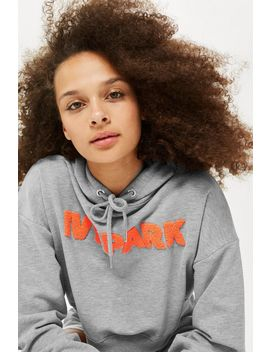 Chenille Logo Hoodie By Ivy Park by Topshop