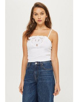 Cut Out Trim Camisole Top by Topshop