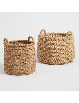 Natural Hyacinth Noelle Tote Baskets by World Market