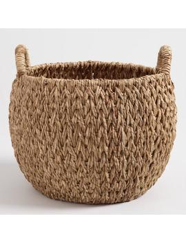 Large Natural Hyacinth Evelyn Tote Basket by World Market