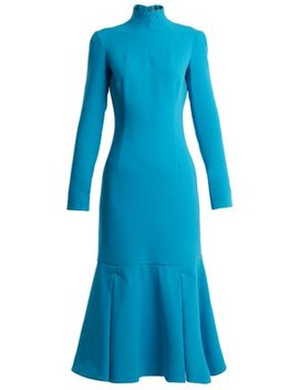 Prudence High Neck Double Crepe Dress by Emilia Wickstead