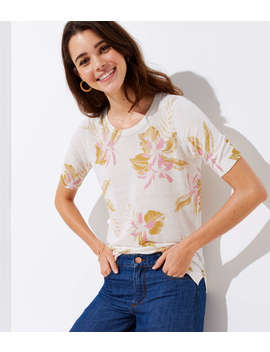Floral Short Sleeve Sweater by Loft