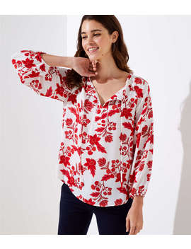 Island Party Tie Neck Blouse by Loft