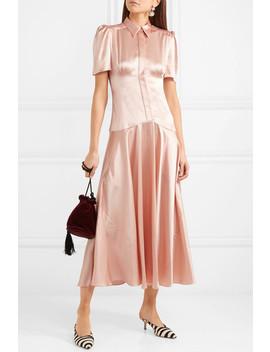 Plimpton Silk Satin Midi Dress by Hillier Bartley