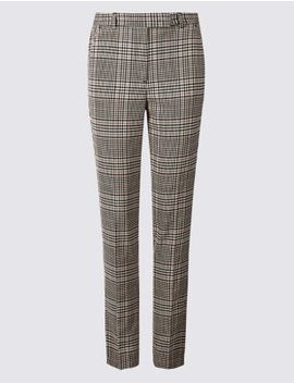 Checked Slim Leg Trousers by Marks & Spencer