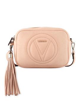 Mia Leather Tassel Crossbody Bag by Valentino By Mario Valentino