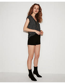 Polka Dot Zip Front Gramercy Tee by Express