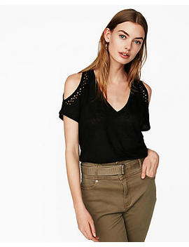 Express One Eleven Embellished Cold Shoulder London Tee by Express