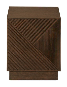 Wade Linear Pattern End Table by Neiman Marcus