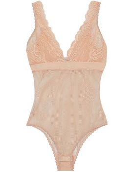 Lace Paneled Mesh Bodysuit by Stella Mc Cartney