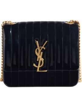 Large Vicky Patent Leather Crossbody Bag by Saint Laurent
