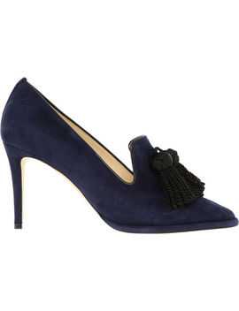 Navy Suede Stilettos by Jimmy Choo