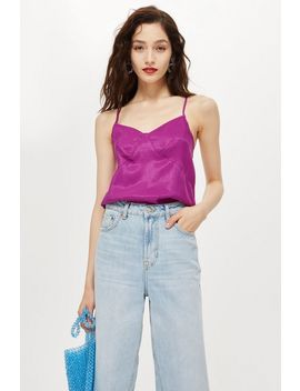 Petite Seam Detail Camisole Top by Topshop