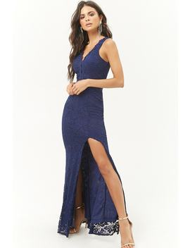 Sheer Waist Lace Maxi Dress by Forever 21