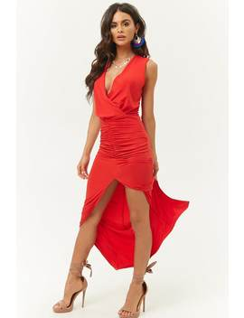 Ruched Surplice Maxi Dress by Forever 21