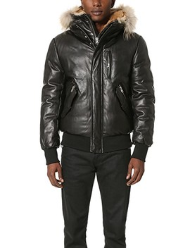 Glen Leather Bomber by Mackage