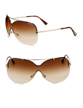 Ondria Mirrored Shield Sunglasses by Tom Ford
