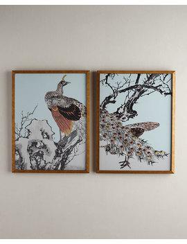 Gilded Bird Diptych by Neiman Marcus