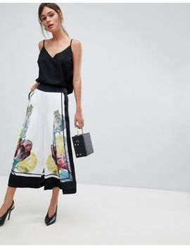Ted Baker Wide Leg Culottes In Tranquility Floral by Ted Baker